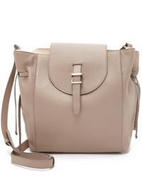 beige Shopper Tasche aus Leder von Meli-Melo
