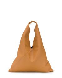 beige Shopper Tasche aus Leder von MM6 MAISON MARGIELA