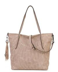 beige Shopper Tasche aus Leder von SURI FREY