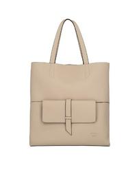 beige Shopper Tasche aus Leder von Titan