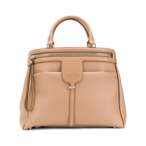 8d935f3145a83 ... beige Shopper Tasche aus Leder von Tod s ...