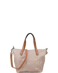 beige Shopper Tasche aus Leder von Tom Tailor