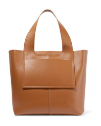 beige Shopper Tasche aus Leder von Victoria Beckham