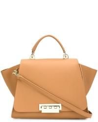Beige Shopper Tasche aus Leder von Zac Posen