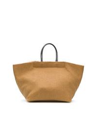 beige Shopper Tasche aus Segeltuch von MM6 MAISON MARGIELA