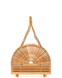 beige Shopper Tasche aus Stroh von Cult Gaia