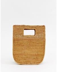 beige Shopper Tasche aus Stroh von Faithfull The Brand