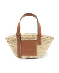 beige Shopper Tasche aus Stroh von Loewe