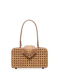 beige Shopper Tasche aus Stroh von Mehry Mu