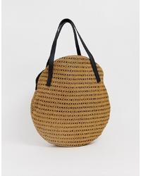 beige Shopper Tasche aus Stroh von Vero Moda