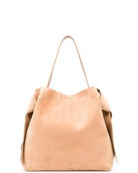beige Shopper Tasche aus Wildleder von Acne Studios