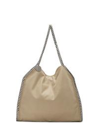 beige Shopper Tasche aus Wildleder von Stella McCartney