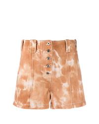 beige Mit Batikmuster Shorts von 3.1 Phillip Lim