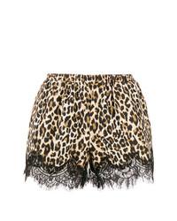 beige Shorts mit Leopardenmuster von Gold Hawk
