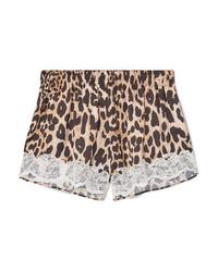 beige Shorts mit Leopardenmuster von Paco Rabanne
