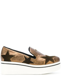 beige Slip-On Sneakers mit Sternenmuster von Stella McCartney