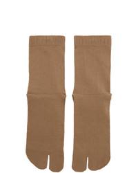 beige Socken von Maison Margiela