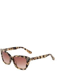 beige Sonnenbrille mit Leopardenmuster