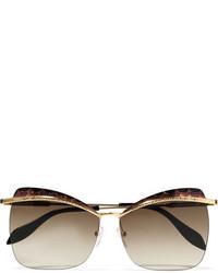 beige Sonnenbrille von Alexander McQueen
