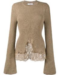 beige Strick Oversize Pullover von Givenchy