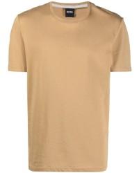 beige T-Shirt mit einem Rundhalsausschnitt von BOSS