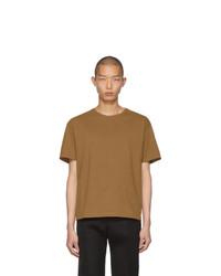 beige T-Shirt mit einem Rundhalsausschnitt von Bottega Veneta