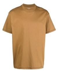 beige T-Shirt mit einem Rundhalsausschnitt von Carhartt WIP