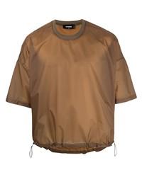 beige T-Shirt mit einem Rundhalsausschnitt von DSQUARED2