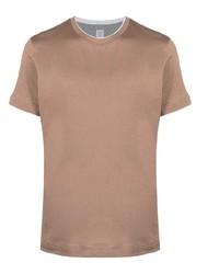 beige T-Shirt mit einem Rundhalsausschnitt von Eleventy