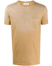 beige T-Shirt mit einem Rundhalsausschnitt von Lanvin