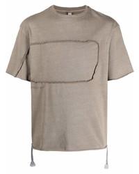 beige T-Shirt mit einem Rundhalsausschnitt von Reebok