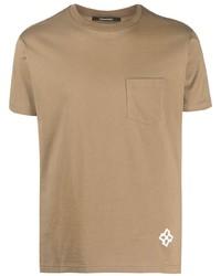 beige T-Shirt mit einem Rundhalsausschnitt von Tagliatore