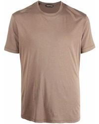 beige T-Shirt mit einem Rundhalsausschnitt von Tom Ford