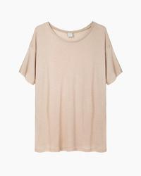Beige t shirt mit rundhalsausschnitt original 1310937