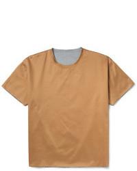beige T-Shirt mit Rundhalsausschnitt