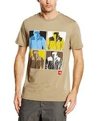 beige T-Shirt mit einem Rundhalsausschnitt von The North Face
