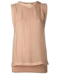 beige T-shirt