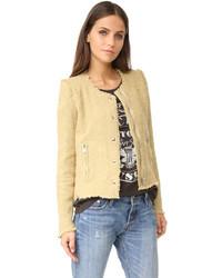 beige Tweed-Jacke von IRO