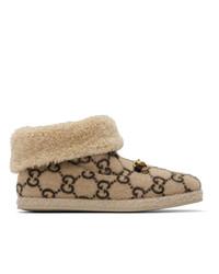 beige Ugg Stiefel von Gucci