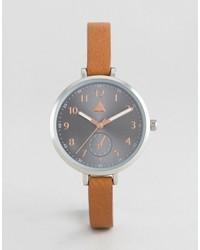 beige Uhr von Asos