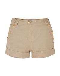 beige verzierte Shorts von Balmain