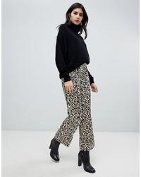 beige weite Hose mit Leopardenmuster von Soaked in Luxury