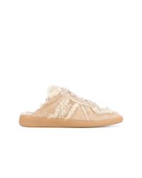 beige Wildleder niedrige Sneakers von Maison Margiela