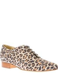 beige Wildleder Oxford Schuhe