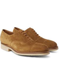 beige Wildleder Oxford Schuhe von J.M. Weston