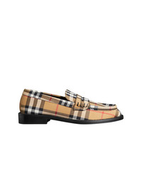 beige Wildleder Slipper von Burberry
