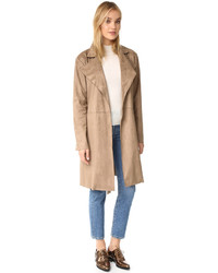 beige Wildleder Trenchcoat von Cupcakes And Cashmere