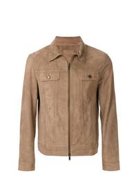 beige Shirtjacke aus Wildleder von Desa Collection