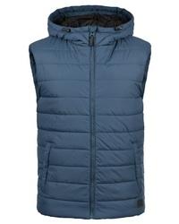 blaue ärmellose Jacke von BLEND