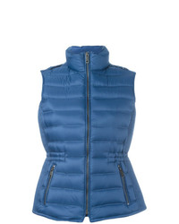 blaue ärmellose Jacke von Burberry